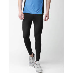 OEM mens black mid rise sports wear tights running leggings