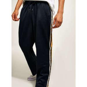 Wholesale mens side stripe draswstring jogger track pants