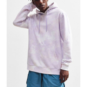 Wholesale mens cotton french terry tie-dye hoodies sweatshirts