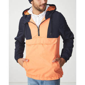 Wholesale mens color block vintage track windbreaker jackets