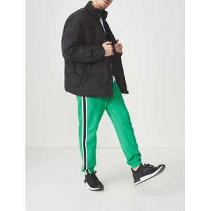 Custom mens side stripe cotton sports wear jogger pants