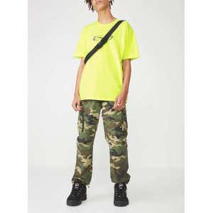 Custom mens stright leg camo jogger cargo pants