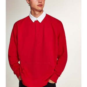 Wholesale mens polo 100% cotton plain sweatshirts