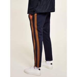 Custom mens side stripe polyester outwear  jogger pants