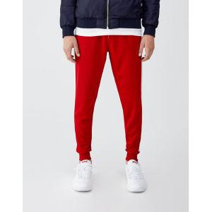 Wholesale mens side stripe cotton jogging track pants