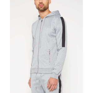Wholesale mens 100% cotton hoodies track jackets