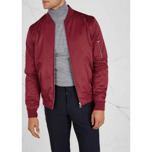 custom mens 100% polyester windbreaker bomber jackets