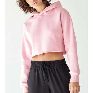 Wholesale women cotton fleece bulk crop top hoodies