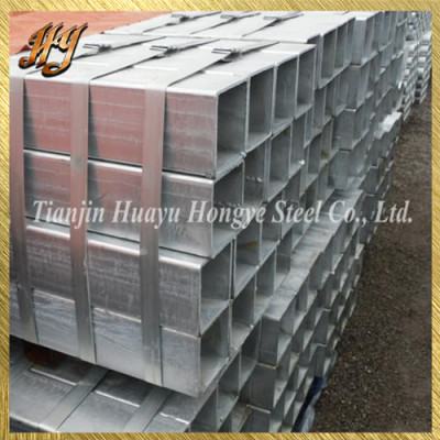 High quality Q215 pre galvanised square steel tube for structure