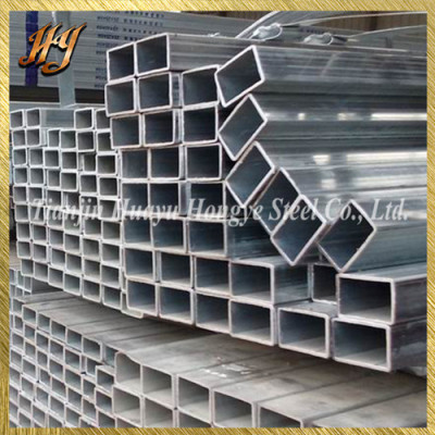 Low carbon BS1387 pre galvanised square steel tube
