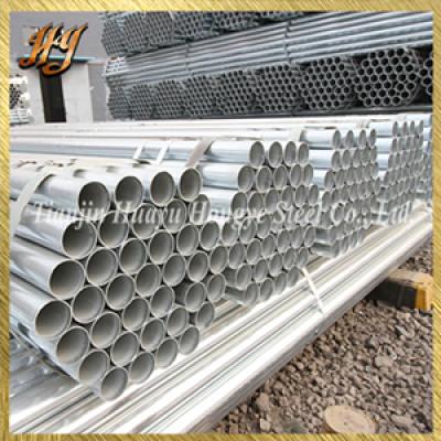 European standard BS1387 pre galvanized steel round pipe