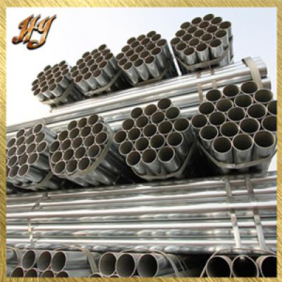 ERW construction pre galvanized steel round pipe