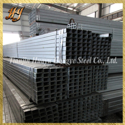 ERW hot roll galvanized square steel pipe