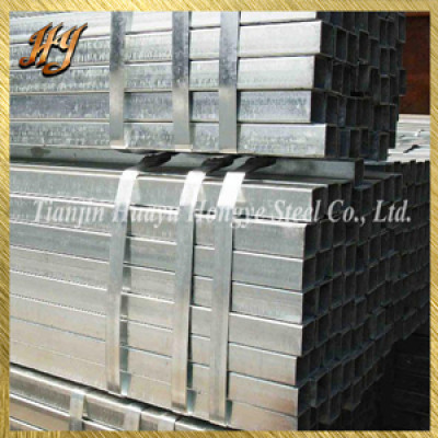 straight weld galvanized square steel pipe for construction