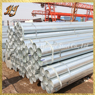 ASTM A53 hot dipped galvanized steel pipe for construction
