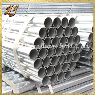 ERW Q195 Round Pre Galvanized Steel Pipe for Furniture pipe mild steel pipes