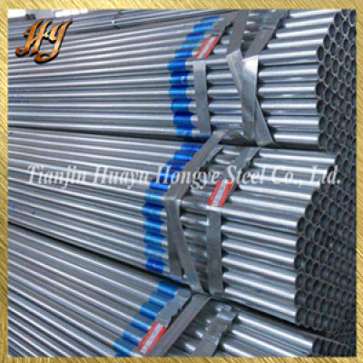 ASTM A53 Hot deep galvanized tube with PVC cap