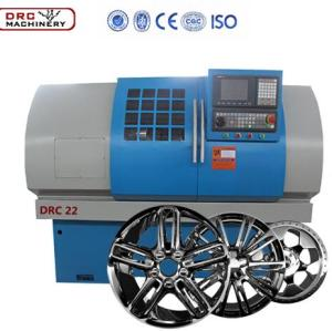 Diamond Cutting Wheel Machines/ Alloy Wheel CNC Lathe Rim Repair Machine DRC22 Car Wheels Refurbishing CNC Lathe
