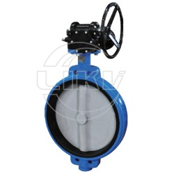 Gear operated Wafer butterfly valve