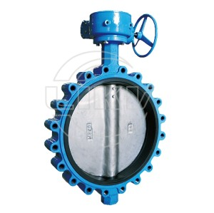 Gearbox operated Lug type butterfly valve