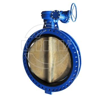 U section butterfly valve