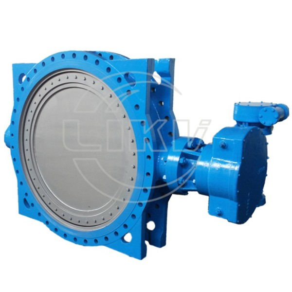 Double eccentric flange butterfly valve resilient seated