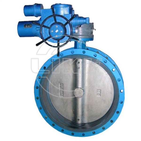 Electric Flanged concentric butterfly valve