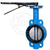 without pin nylon plate Wafer butterfly valve