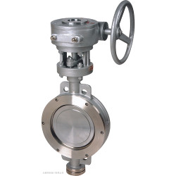 metal-seat flanged butterfly valve