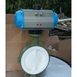 pneumatic four fluorine wafer butterfly valve