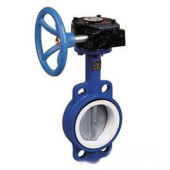 worm four fluorine wafer butterfly valve