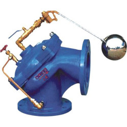 Angle muffler level control valve