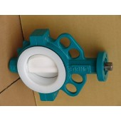 Split Body Full PTFE lined wafer butterfly valve