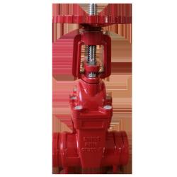 grooved gate valve