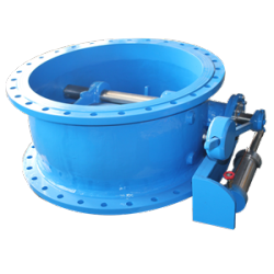 small-resistance slow-closing butterfly check valve