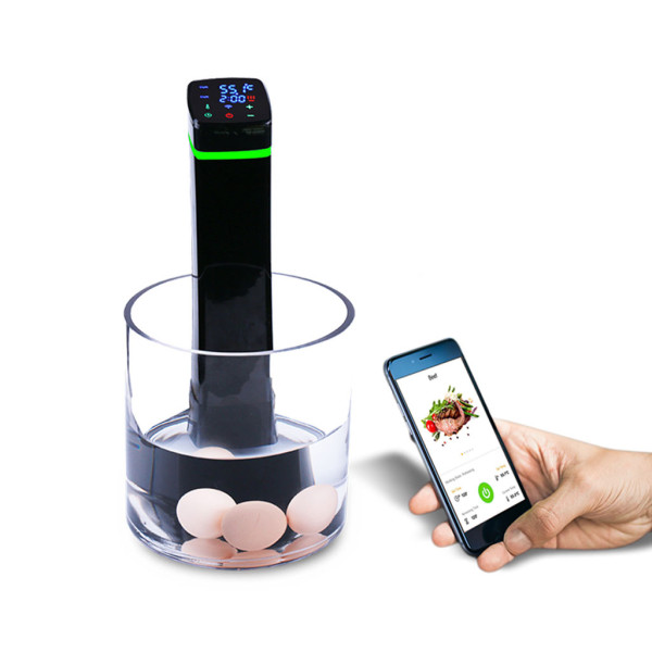 Slow cooker immersion circulator sous vide at home cooker with WiFi