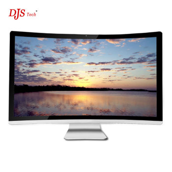 DJS TECH game 32-inch curved screen all-in-one computer, Intel® Core i7 7700 3.6G, 8GB RAM, 512 GB solid state drive, Nvdia Geforce GTX 1050USB2.0, VGA, Windows 10 (silver)