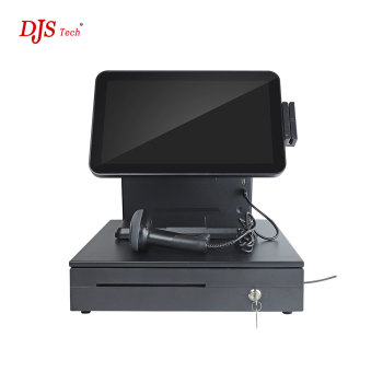 China all in one pos touch screen monitor android machine with wifi printer