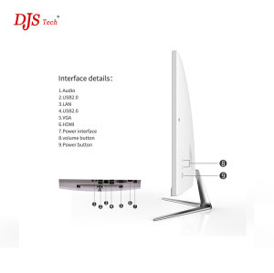 Ultra Thin AIO All IN One PC desktop computer 23.8 Inch i3 ultra thin Desktop computer Offici