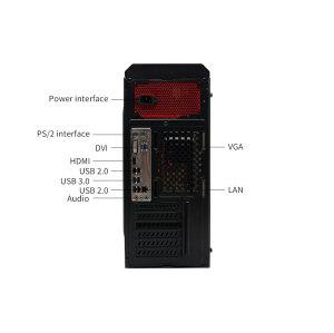 SJS TECH desktop DJS-CO21 Intel XEON CPU X5650, 4GB DDR3, 500 7200RPM HDD, Wi-Fi USB, Windows 10 64-bit (with 21.5-inch display, USB camera)