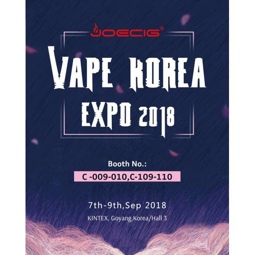 Joecig Vape Korea Expo 2018-The First Vape Show at KINTEX, Korea