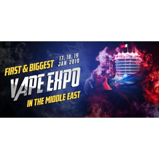 Middle east vape show will take place between 17th and 19th of Jan 2019