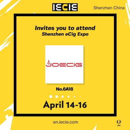 Joecig invites you to attend ShenZhen eCig EXPO  from  14th to 16th of  April  2019