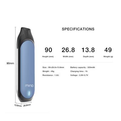 Shenzhen e-cigarette Mino مع 1ml vape pods الأكثر مبيعًا ecig vape pen