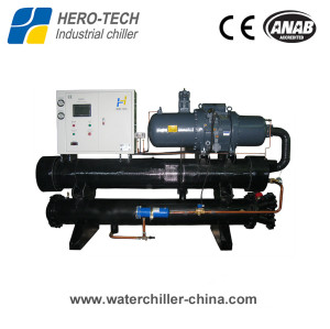 Screw type water-cooled glycol chiller HTSL-100W
