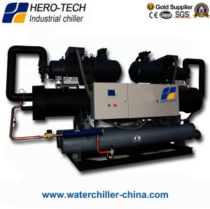 Water cooled screw chiller HTS-1080WF/1080TON