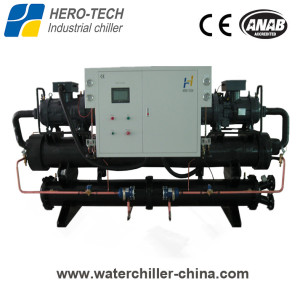 Screw type water-cooled glycol chiller HTSL-280WD