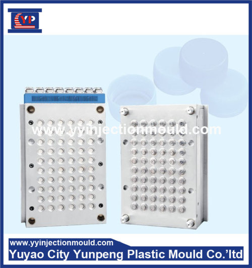 Custom injection mold made screw plastic molding part swing top bottle caps with ribbed sides(From Cherry)