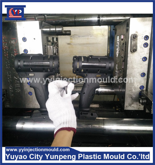 Custom precision plastic electric drill handle mould injection tooling (with video)
