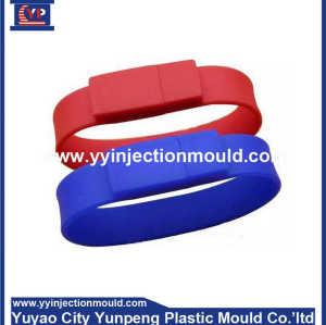 Personalized waterproof silicone bracelet watch for double shot molds (From Cherry)
